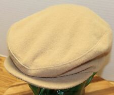 VINTAGE US UNION MADE WOOL CABBIE/NEWSBOY HAT CAMEL BROWN SIZE MEDIUM 7-7 1/8