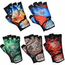 VELO Weight Lifting Gloves Body Building Gym Workout Training Fitness Straps