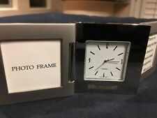 Rare Silver Picture Frame Desk Clock with Engraved Microsoft Logo Staff