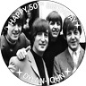 Personalised cake topper the beatles circle square wafer icing sheets edible