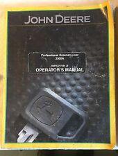 John Deere 2500A Greens Mower Operator's  Manual  English and Spanish