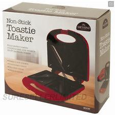 ANTI-ADHERENTE TOASTIE maker machine panini presse sandwich santé Grill Plaque en fonte rouge