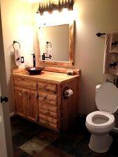 Custom Rustic Cedar Wood Log Cabin Lodge Bathroom Vanity Cabinet 48 INCH