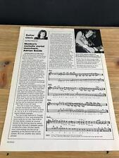 1987 VINTAGE 1 PAGE PRINT ARTICLE GUITAR CLINIC WITH IRON MAIDEN'S ADRIAN SMITH