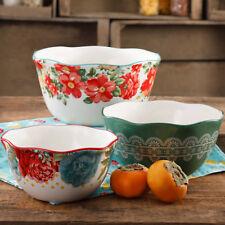 The Pioneer Woman Vintage Floral 3-Piece Nesting Bowl Set (Dinner Serving Bowls)