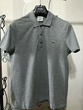 LACOSTE Sport Mens Polo Shirt Size 4 Small Grey Cotton