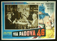 CINEMA-fotobusta VIA PADOVA 46 de filippo, masina, sordi, BIANCHI