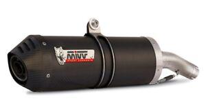 MIVV EXHAUST MOTO GUZZI BREVA 1100 bj.ab 2005 (Oval, Carbon, Motorcycle)