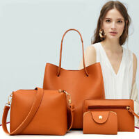 4pcs Women Fashion Leather Handbag Shoulder Bag Tote Purse Messenger Satchel Set