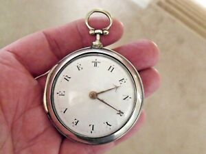LOVELY PAIR CASE VERGE POCKET WATCH 'W WILLIAMS, LONDON' 1794 NAMED DIAL