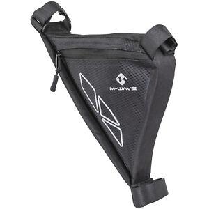 Bicycle Frame Bag Triangle Bag M-Wave Rotterdam Tri Black