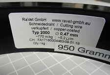 730 lfm RaVet Typ 2000 Ø 0,47 mm Schneiddraht Widerstandsdraht Cutting wire