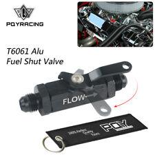 AN6 6AN Aluminum Inline Fuel Filter Shut Off Valve Cut Off w/ Cable Lever Black
