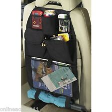 1x Car Seat Organiser Black Multi Pocket Storage Tablet Holder Handy Tool