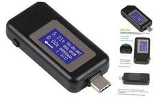 Type-C USB Meter Tester Power Meter USB Multimeter Voltage and Current Blue