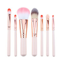 7pcs Makeup Brush Set Eyeshadow Eyebrow Powder Foundation Contour Concealer Tool