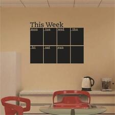 Weekly Planner Removable Wall Sticker Calendar Blackboard Chalk Board Decal KV