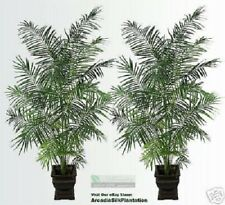 TWO 8.5' Tropical Areca Palm Artificial Trees Plants 81