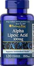 Alpha Lipoic Acid 100 mg x 120 Capsules Puritan's Pride ** AMAZING PRICE **