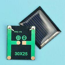 PLACA SOLAR 0,08 W 1 V 80 mA 30x25mm PANEL ARDUINO DIY CELULA FOTOVOLTAICA