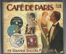 """""""Café de Paris"""" 3-cd Set 2003 NUOVO & OVP-Piaf/Trenet/Rossi/Chevalier/Montand"""