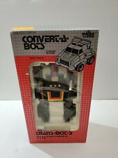 1984 VILLAGE TOYS CONVERT A BOTS TRANS BOT 3 ROBOT TO CAR IN BOX