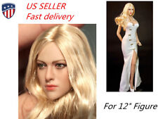 "US 1:6 Scale Women Head Sculpt for 12"" Figure TBLeague Female Body KIMI TOYS"