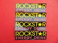"DECAL ROCKSTAR ENERGY DRINK 2 1/4"" x 8"" Lot Of 4 Stickers Sticker"