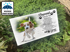 Grave marker Tree stake, Garden or pet cemetery, Dog loss, In loving memory