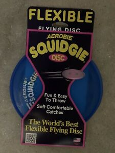 Aerobie Squidgie Disc Flexible Flying Disc Frisbee Blue Free Shipping