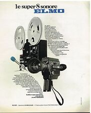 Publicité Advertising 1976 Projecteur et camera Super 8 Sonore Elmo