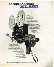 Publicité Advertising 1976 Projecteur et camera Super 8 Sonore Elmo