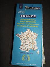 Carte michelin 911 france grands itineraires temps de parcours 1998