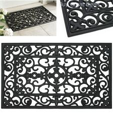 Rubber Doormat Outdoor Heavy Duty Floor Welcome Entrance Rug Scroll Door Mat