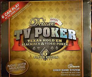 Poker Deluxe TV Poker: Texas Hold 'em Blackjack & Video Poker Game- Six Player