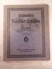 alter Atlas Schmidts Bayrischer Schulatlas, Ausgabe B mit Bilderanhang, 1931