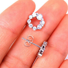 925 Sterling Silver Hypo-Allergenic Star Crystal Stud Earrings Jewelry H1029
