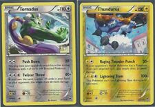 TORNADUS 86/111 & THUNDURUS 33/11-RARE FURIOUS FISTS Pokemon Card -REV-HOLO MINT