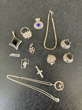 Mixed 925 Sterling Silver Jewelry Lot Estate