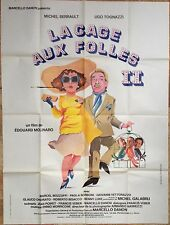 Affiche cinéma originale LA CAGE AUX FOLLES 2  format 120x160