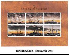ANGOLA - 1996 WAR CLASSIC SHIPS - MINIATURE SHEET MNH