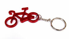 Bike Keyring - Metal Bicycle Keychain Red Aluminium Fast UK 24hr Post
