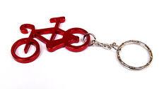 Metal Bike Keyring Chain Cycling Bicycle Red Aluminium Fast UK 24hr Post