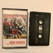 Iron Maiden Cassette Tape The Number of the Beast 4XT-12202 Rare Variant inlay