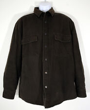Woolrich Mens Jacket Large Brown Snap Button Cotton Barn Coat Outdoors As Is