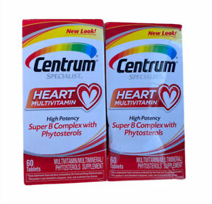 Lot of 2 Centrum Specialist Heart Multivitamin 60 Tablets Exp Feb 2022