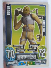 Force Attax Clone Wars Serie 4 (2013), Bossk (222), Star-Karten