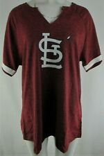 St. Louis Cardinals MLB Majestic Women's Plus Size Notch Neck T-Shirt