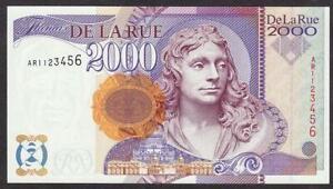 DE LA RUE MILLENNIUM EXPERIMENTAL BANK OF ENGLAND TEST BANKNOTE 2000 UNC