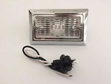 """3.75""""x 2.5""""  Inch Clear Chrome Backup Utility Light Trailer Tractor Inches Truck"""